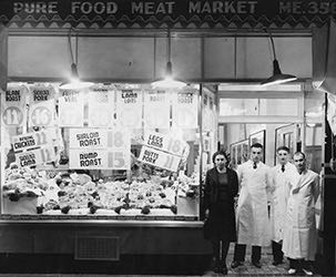 An archive photo of the original Pure Foods store